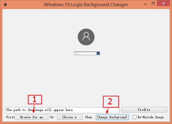 Windows 10 Login Background Changer