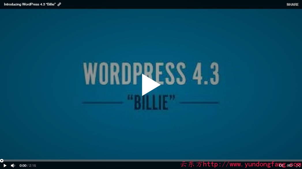 wordpress 4.3