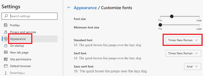 Change-the-default-font-for-Edge-Chromium