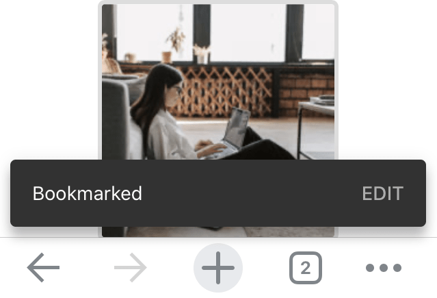 Chrome-iOS-Webpage-Bookmarked