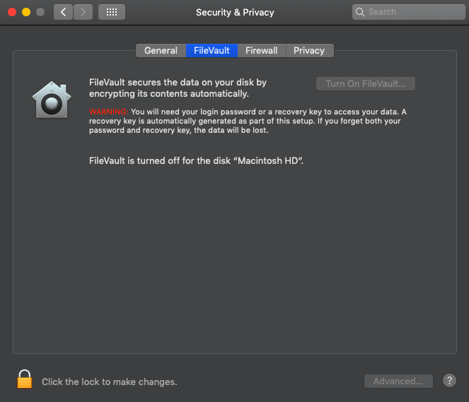 Disable-FileVualt