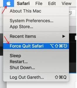Force-Quit-Safari-Option-in-Menu-option