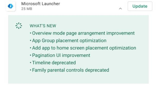 Microsoft-Launcher-changelog