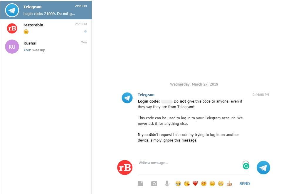Telegram-Web-Login-Code