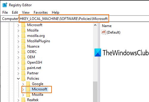 access-microsoft-key-in-registry-editor