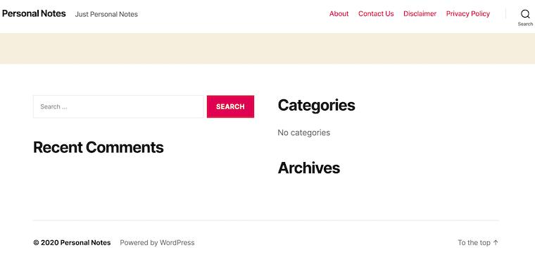 wordpress-interface