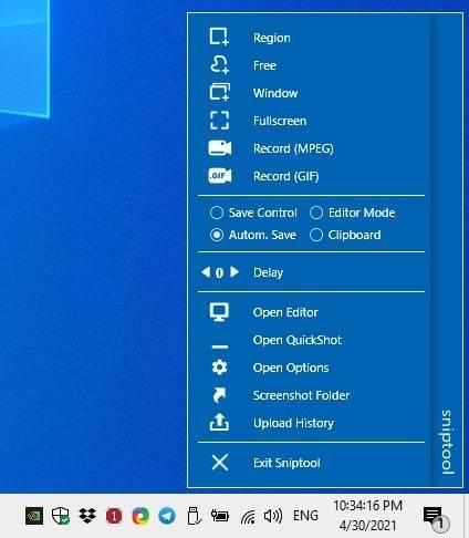 Sniptool-v2-dock-mode-interface