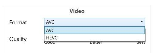 Tricycle-video-converter-set-video-encoding-type
