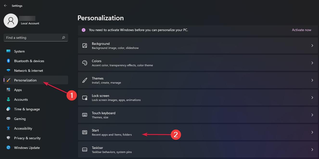 Personalization-Start-Windows11