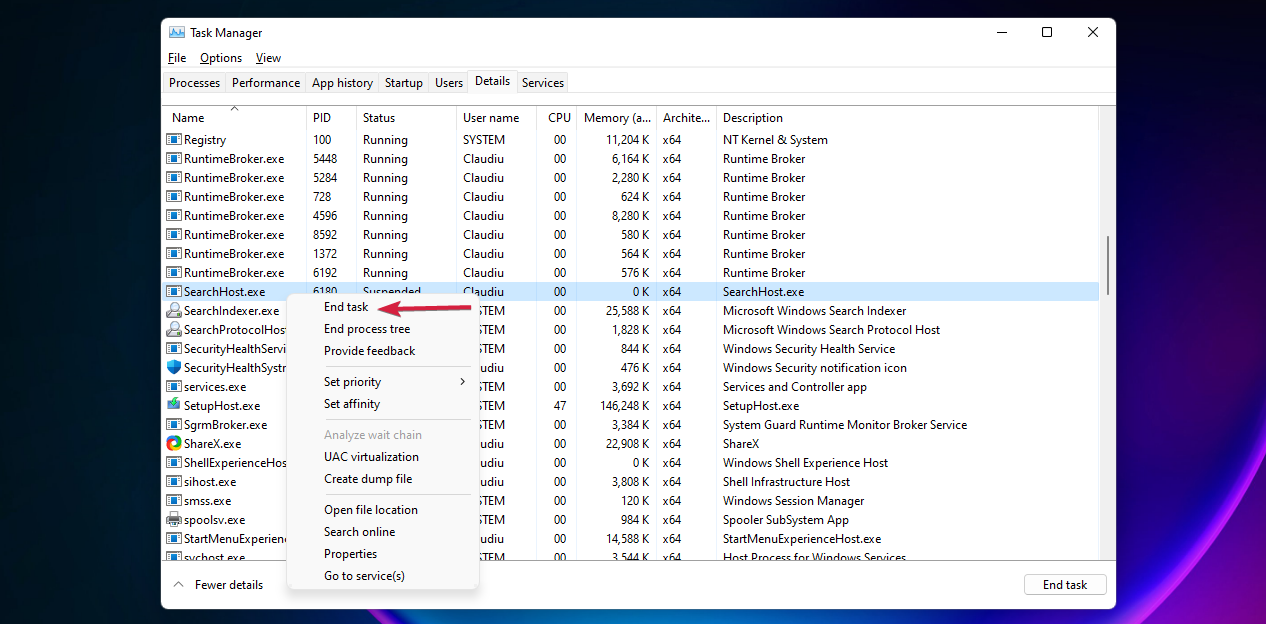 Searchhost-windows11