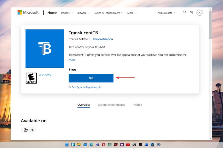 Get-TranslucentTB