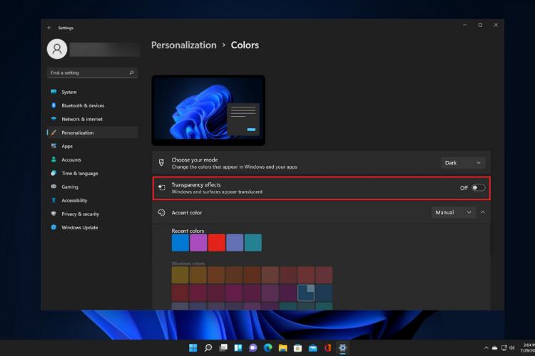 Tranparency-Windows-11